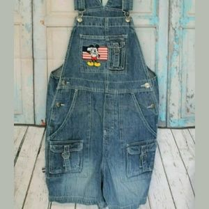 Women's Small Disney Mickey Mouse Jean Overall